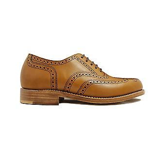 Loake Viv Tan Burnished Calf Leather Womens Oxford Shoes