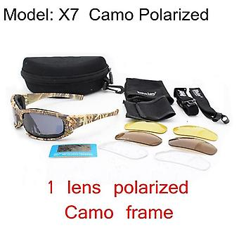 Tactical Camouflage Men's Polarized Glasses, Military Shooting Hunting Goggles