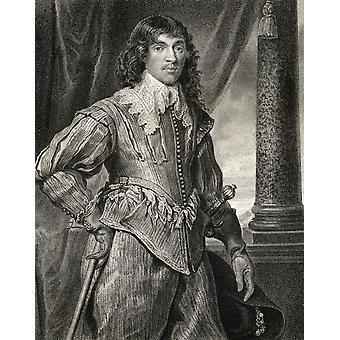 William Hamilton 2 Duke Hamilton Earl Cambridge Earl Of Lanark 1616-1651 Skotlannin Royalist aikana Englannin sisällissodan kirjasta jättää brittiläinen muotokuvia julkaistu Lontoo 1823 PosterPrint