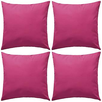 vidaXL garden pillow 4 pcs. 45 x 45 cm pink