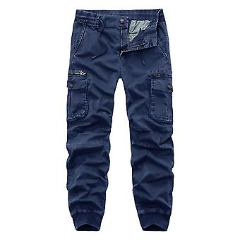 Autumn And Winter Men's Casual Fashion Trousers Stretch Slim Overalls