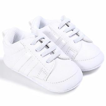 Baby Pu Leather Shoes Sports Sneakers Newborn Baby Stripe Pattern Soft