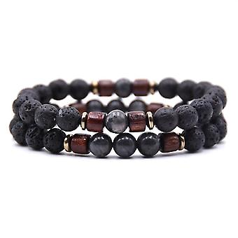Men Wooden Bead Mala Bracelets Accessories