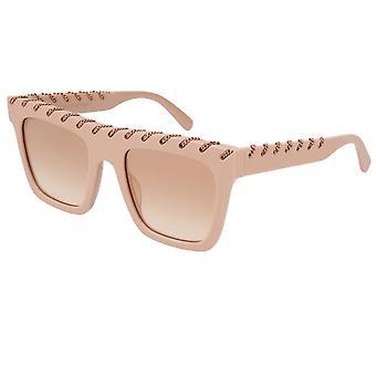 Stella Mccartney Sc0128s 004 51 Falabella Pink And Rose Gold Sunglasses