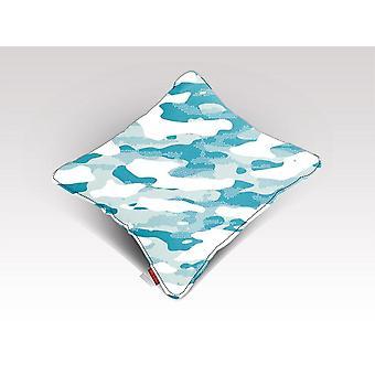 Sininen naamiointi kuvio mosaiikki tyyli plakat tyyny / tyyny