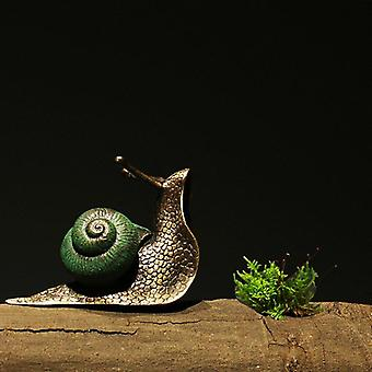Colored Brass Snail Show Pieces