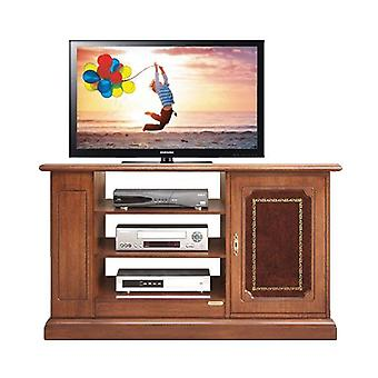 TV cabinet with precious leather door