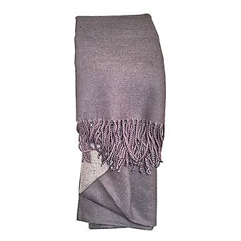 Reversible Grey Ladies Scarf by Butterfly Fashion London