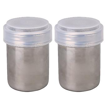 Flour Sifter Icing Sugar Dredger Chocolate Powder Shaker 6x9cm Pack of 2