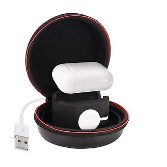 2 In 1 Holder For Apple Watch Airpods Stand Fashion Round Design Easy Carry