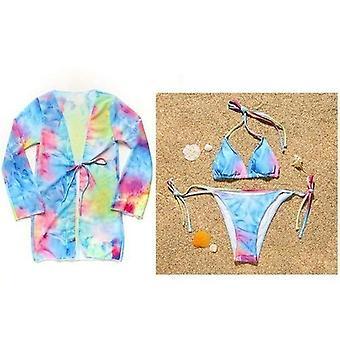 Tie Farbivo Plavky Ženy Halter Plavky