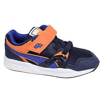 Puma Trinomic XT 1 Plus V Kids Trainers Shoes Blue Orange 359454 01 B13D