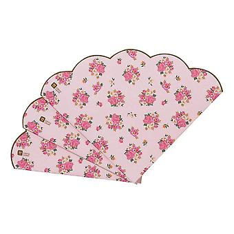Pink Floral Scalloped Napkins | Afternoon Tea Party Wedding Birthday Table x20