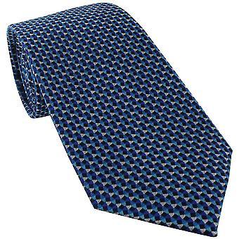 Michelsons Lontoon kolmion geometrinen silkki solmio - Teal