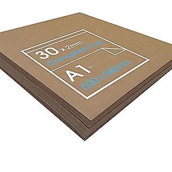 Wellpappe Karte für Kunst, Handwerk & Modellbau. 30 Blatt 840mm x 600mm x 2mm