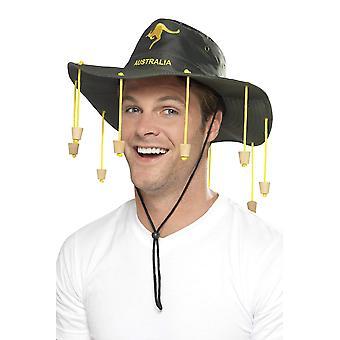 Smiffys chapéu australiano um tamanho verde