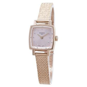Tissot T-lady Lovely Square T058.109.33.456.00 T0581093345600 Diamond Accents Reloj de mujer