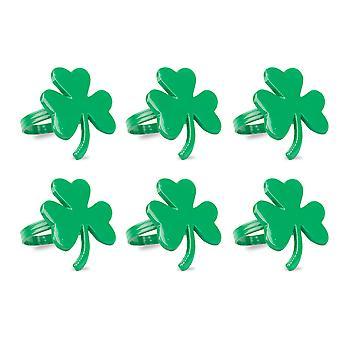 Dii Green Shamrock Napkin Ring (Set Of 6)
