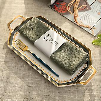 Egyszerű teáskanna lemez kis virág pamut vászon szőnyeg ruhával szalvéta törölköző modern stílus