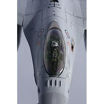 Nahaufnahme von einer Lockheed Martin f-16 Fighting Falcon von der norwegischen Luftwaffe-Plakat-Druck