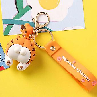 Baby Cats Keychain Car Bag Animal Bell Pendant Keyring Action Figures Pendant