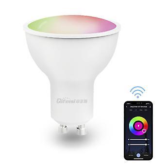 Wifi ampoule intelligente 5w rgb+cct réglable commande vocale légère