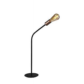 Lámpara De Mesa Flexible Flash 1 Bombilla Negro Satinado 19 Cm