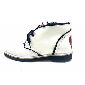 Polnische Damen Schuhe Liebe Moschino In weiß Naplak Kunstleder / Eco Shearling D20mo30