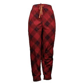 Cuddl Duds Women's Plus Petite Stretch Jogger Pajama Red A381826