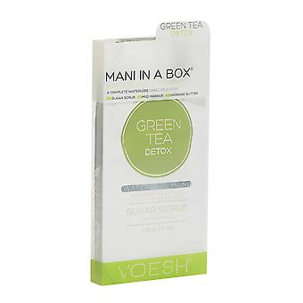 1xVoesh Green Tea Detox Waterless 3Step Manicure In A Box with Green Tea Extract