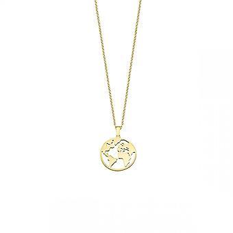 Lotus Silber LP1898-1/2 Halskette und Anhänger - Welt dor es Mädchen Silber Frau