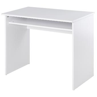 HOMCOM Computer Writing Desk with Storage Compartment Workstation Learning Center for Home Office 90W x 50D(cm) - White