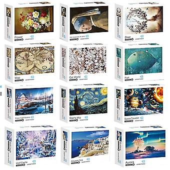 Jigsaw 1000 Pieces Game Paper Quality Assembling Puzzles