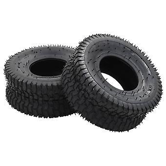 L Wheelbarrow Tyres 2 Pcs 15x6.00-6 4pr Rubber