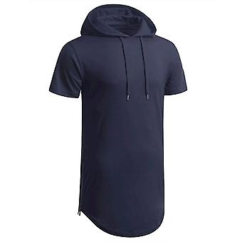 Aiyino Men's Hipster Hip Hop Long Sleeve Longline Pullover Hoodies Shirts