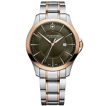 Victorinox Swiss Army 241913 Victorinox Swiss Army Alliance Green Two Tone Mens Watch