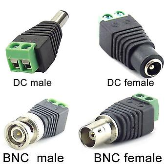 Dc Bnc Male Female Connector  Adapter Plug For Led Strip Lights Cctv Camera