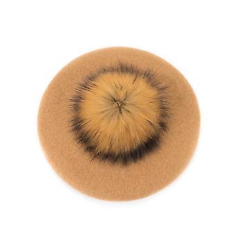Vauva baretti lämmin villa talvi pipo hattu todellinen turkis pallo Pom Pom