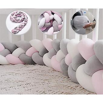Wokex Bettumrandung Babybett Bettschlange Geflochten Kinderbett Stofnger 4 Weben Baby Nestchen