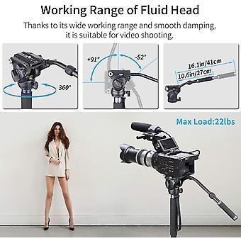 "Video Monopod Kit, DZK VM-70K 72"" Professional Aluminum Fluid Head Monopod with Removable Tripod"