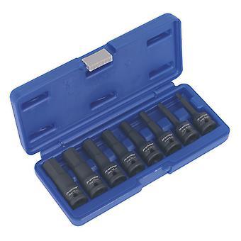 Sealey Ak5601 indvirkning Hex-nøgle sæt 8Pc 1/2Sq drev