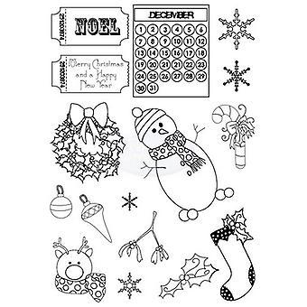 Polkadoodles Sello claro - Ángel de Navidad A6
