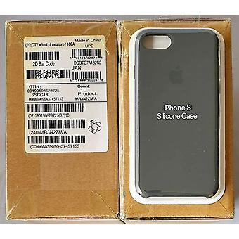 Originalpackad Apple Silikon Microfiber Cover Cover Case för iPhone 8/7/iPhone SE 2020 - Mörk oliv