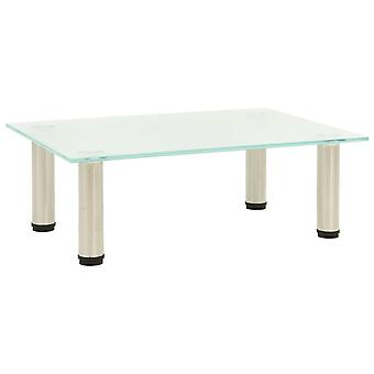 vidaXL TV Table Matted 40x35x17 cm Tempered Glass