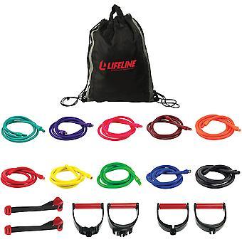 Lifeline USA Ultimate Variable Resistance Trainer Kit - Multicolor