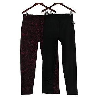 Nina Leonard Leggings 2-pack Fleece-Lined Black 729076