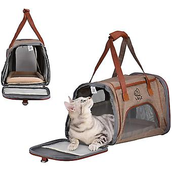 Collapsible Dog Cat Pet Bag, Portable Cloth Pack Suitable For Travel
