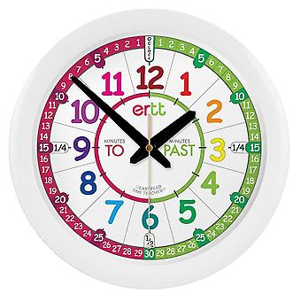 Gerui EasyRead Time Teacher Learn the Time Past/To Children&s Wall Clock EN