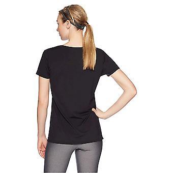 Essentials Women's 2-Pack Tech Stretch Short-Sleeve V-Neck T-Shirt, Black, Small