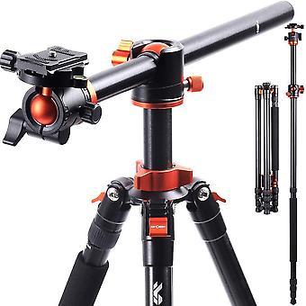 FengChun KF Concept 238CM Stativ, SA254T1 Kamerastativ mit verlngerten 90 Grad Mittelsulen, 360